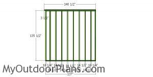 Back wall frame - 12x16 shed plans
