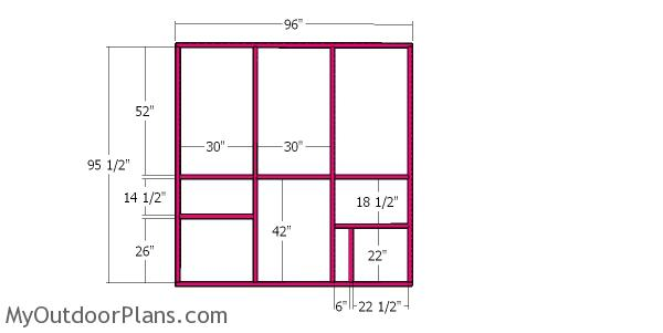 Side wall frame - large catio