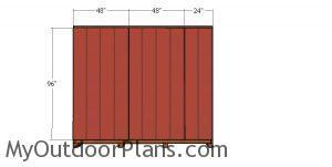 Back wall siding sheets - 10x24 shed