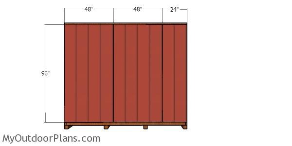 Back wall siding sheets - 10x24 shed