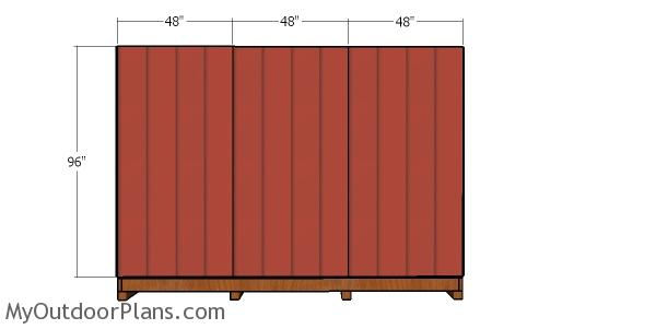 Back wall siding sheets - 12x16 garden shed with dormer