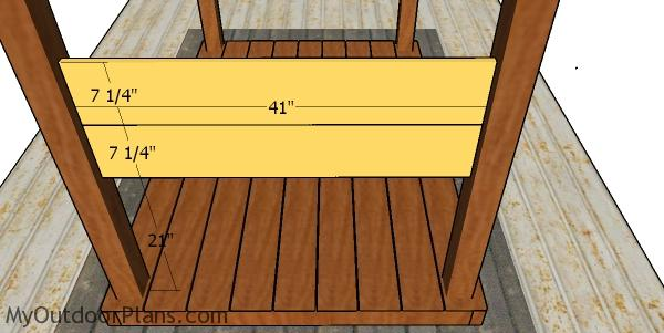 Backrest for the picnic table arbor