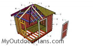 Building a 10x12 hip roof shed