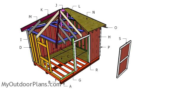 10x12 Hip Roof Construction Plans Myoutdoorplans Free Woodworking Plans And Projects Diy Shed Wooden Playhouse Pergola Bbq