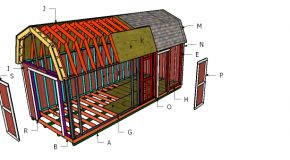 10×24 Gambrel Shed Roof Plans
