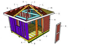 12×12 Hip Roof for Shed Plans