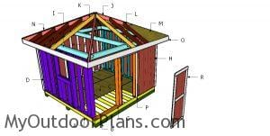 Building a 12x12 shed with a hip roof