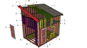 12×16 Lean to Shed with Loft Roof Plans