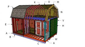 12×20 Gambrel Shed Roof Plans