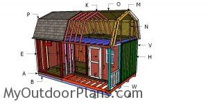 Building a 12x20 barn shed with side porch