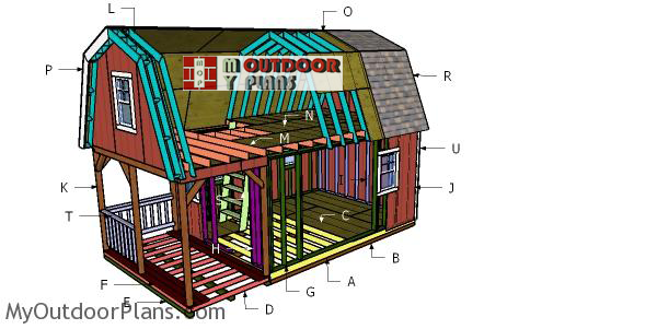 Building-a-12x22-barn-shed-with-loft-and-front-porch