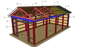 16×32 Pole Barn Roof Plans