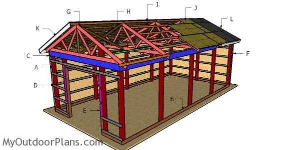 16x32 Pole Barn Roof Plans