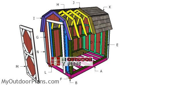Building-a-6x12-gambrel-shed