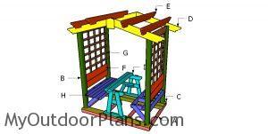 Building a picnic table arbor