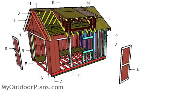 Building a shed with dormer