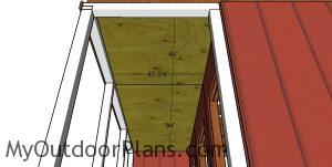 Ceiling for porch