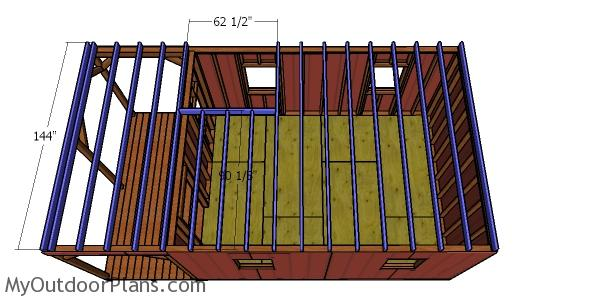 Ceiling joists for 12x22 cabin
