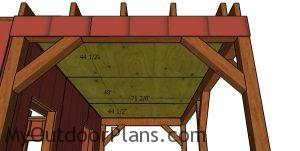 Ceiling plywood sheets - 4'x8'