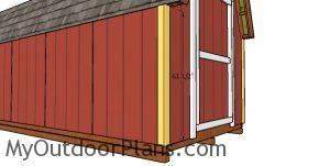 Corner trims - 8x20 shed