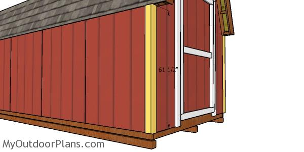 Corner trims - 8x20 shed