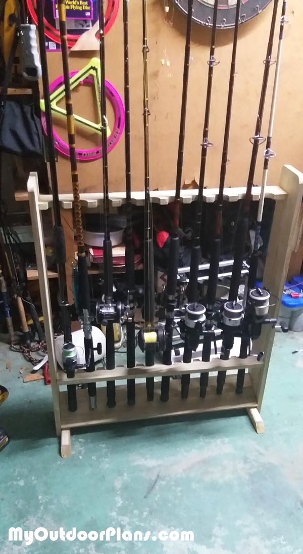 DIY Fishing Rod Rack