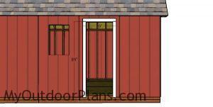 Door Jambs for the side door - diy shed