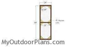 Door for 4x8 catio