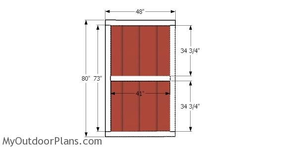 Door for 8x20 barn shed