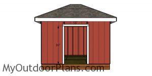 Door jambs - 10x12 shed