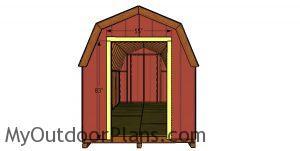 Door jambs - 8x20 barn shed