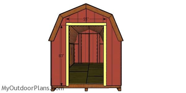 Door jambs - 8x20 barn shed