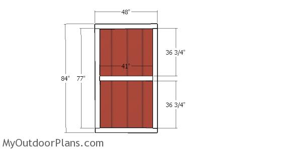 Double doors for shed