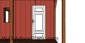 Fitting the door - 12x22 cabin