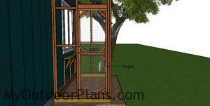 Fitting the door to the 4x8 catio