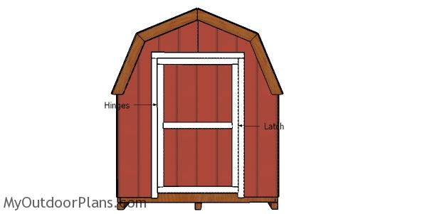 Fitting the door to the 8x20 gambrel shed