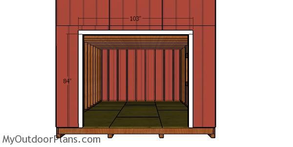 Fitting the double door jambs