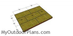 Fitting the floor sheets - shed dormer