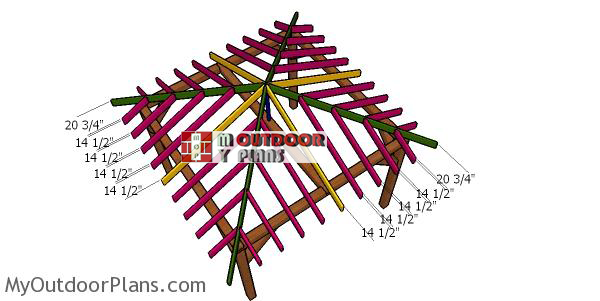Fitting-the-jack-rafters---12x12-hip-roof