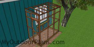 Fitting the mesh to the 4x8 catio