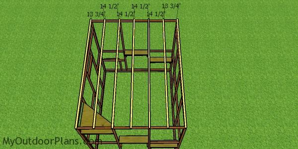 Fitting the rafters - 8x10 catio