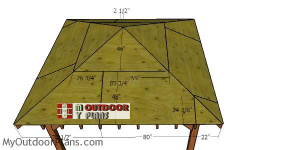 Fitting-the-roofing-sheets---12x12-hip-gazebo