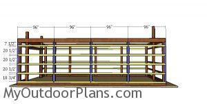 Fitting the side girts - 16x32 pole barn