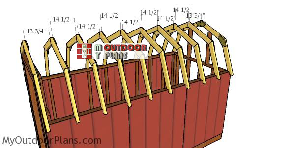 Fitting-the-trusses-to-the-top-of-the-6x12-gambrel-shed
