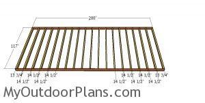 Floor frame - 10x24 shed