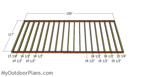 Floor frame - 10x24 shed