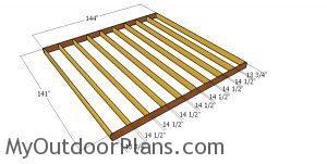 Floor frame - 12x12 shed