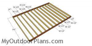Floor frame - 12x16 barn cabin