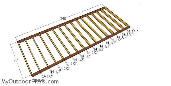 Floor frame - 8x20 shed