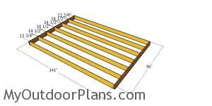 Floor frame for shed